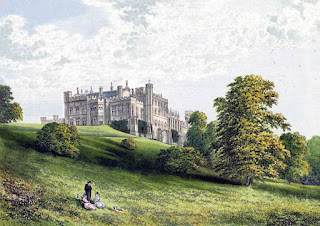 A painting of Lambton Castle in County Durham, one of  several country houses in England designed by Bonomi
