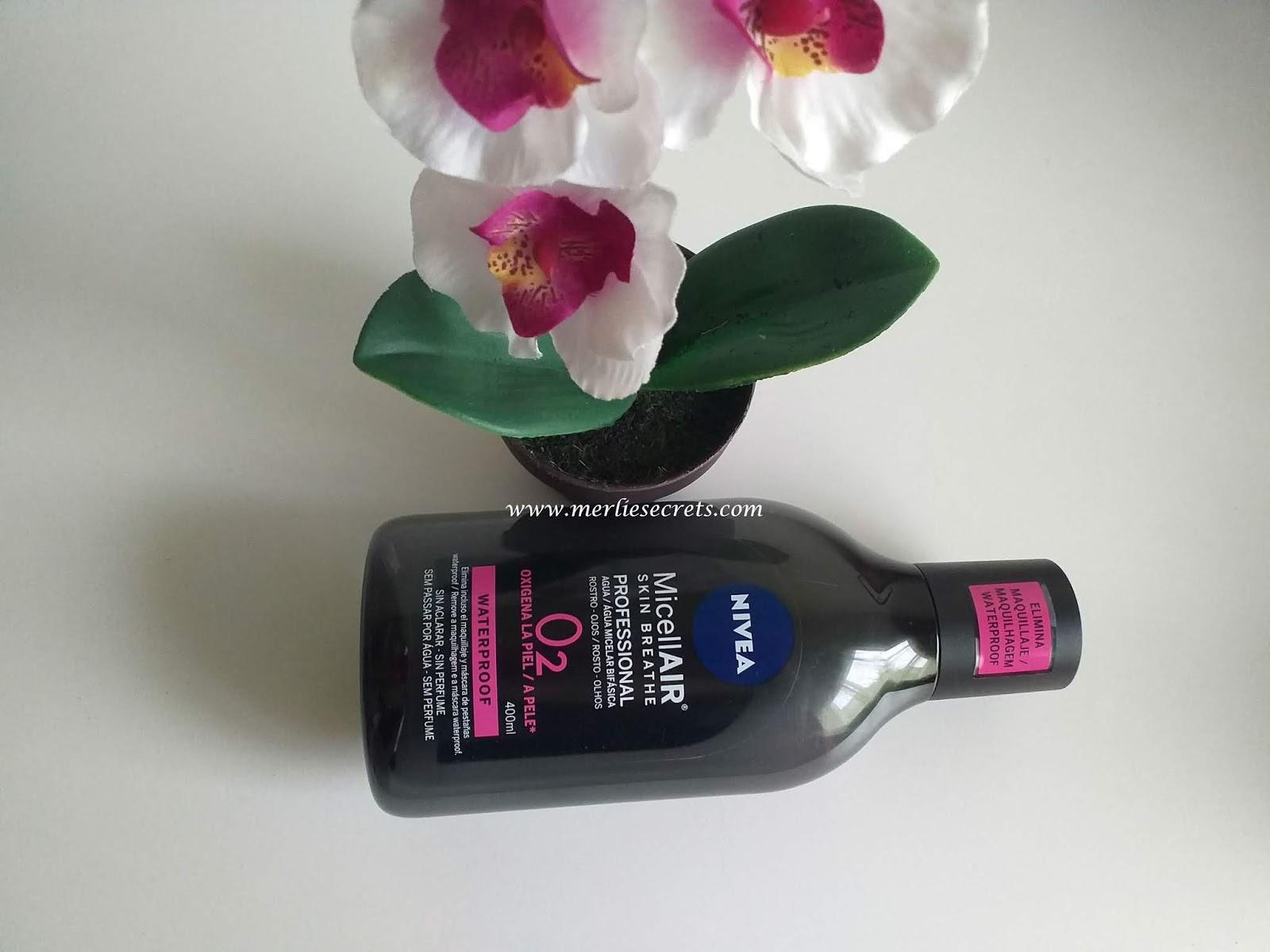 embalagem água micelar para maquilhagem à prova de água