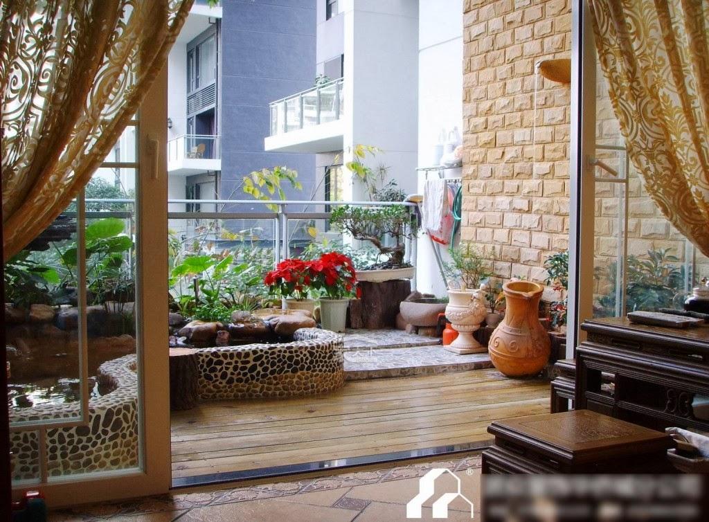 Garden Design Ideas To Balcony | Model Home Interiors on Backyard Balcony Ideas id=41010