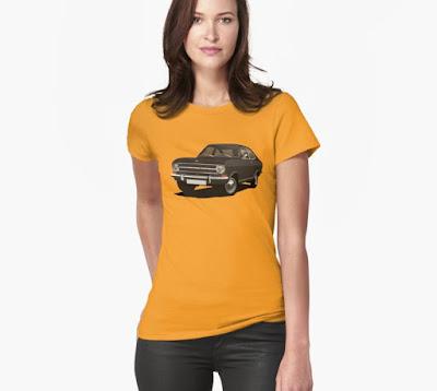 Opel Kadett B coupe t-paita musta