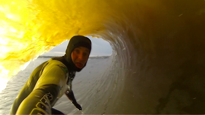 Ian Battrick Looking Back in Barrel GoPro