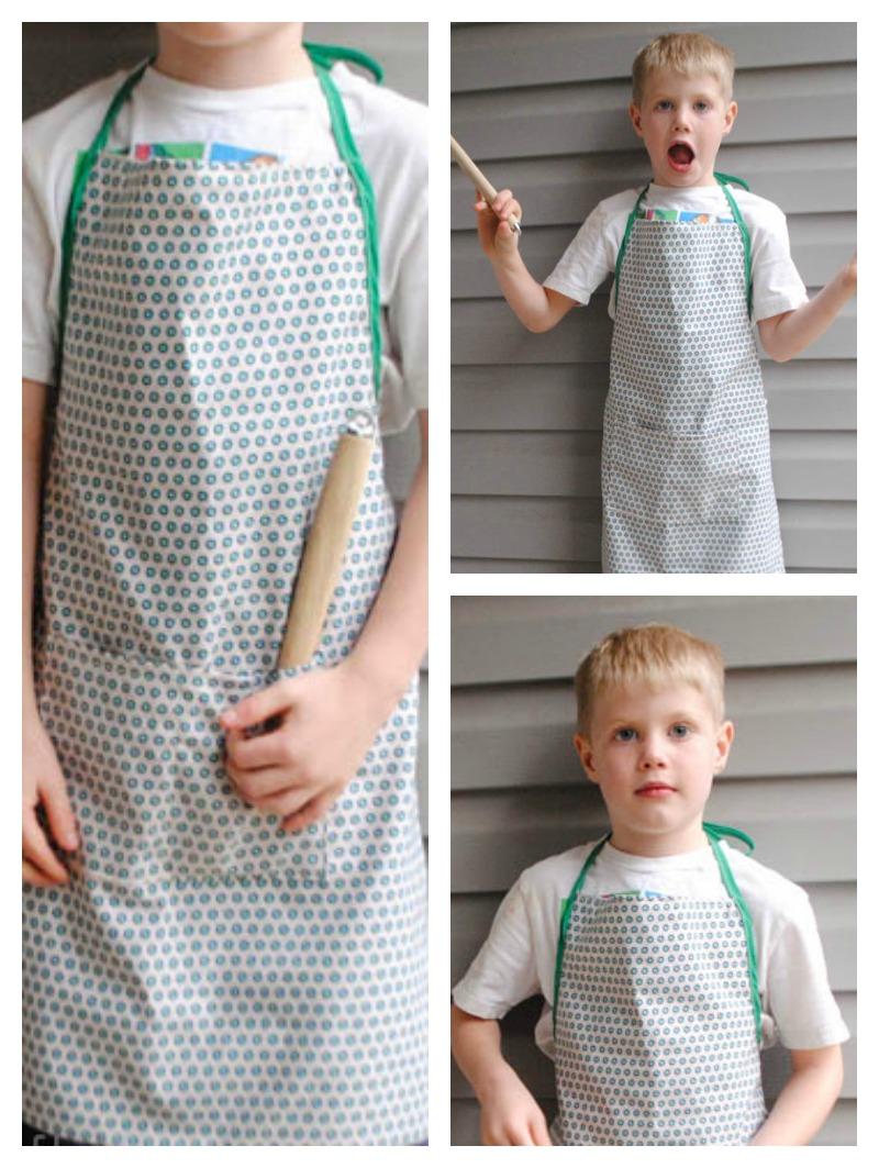 Handmade Gifts For Boys: Mini-me Apron - Beatnik Kids