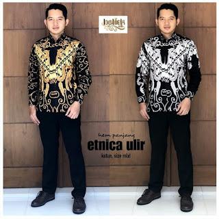 Batik Kemeja Batik Pria Lengan Panjang Etnica Ulir