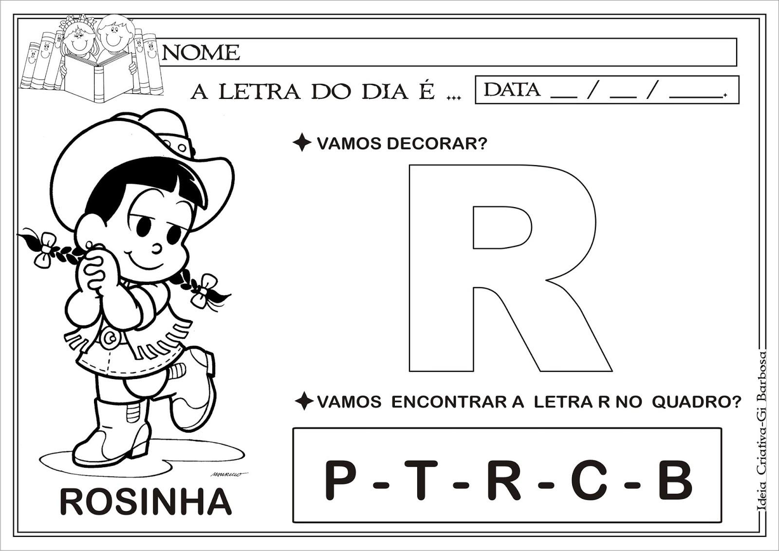 Excepcional Caderno com Atividades Letras do Alfabeto | Ideia Criativa - Gi  OQ39