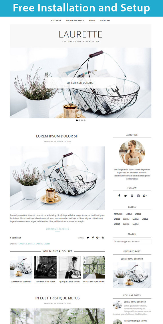 Blogger Template Murah, Cantik, Simple Dan Smart