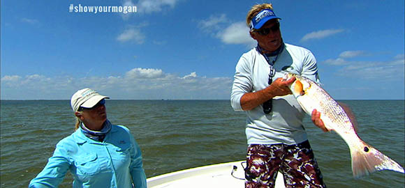 Capt Blair and Capt Sally Black with Redfish