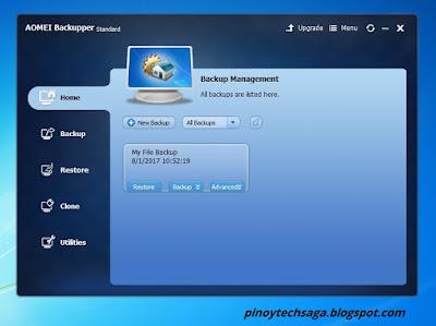 AOMEI Backupper Standard File Restoration step 6