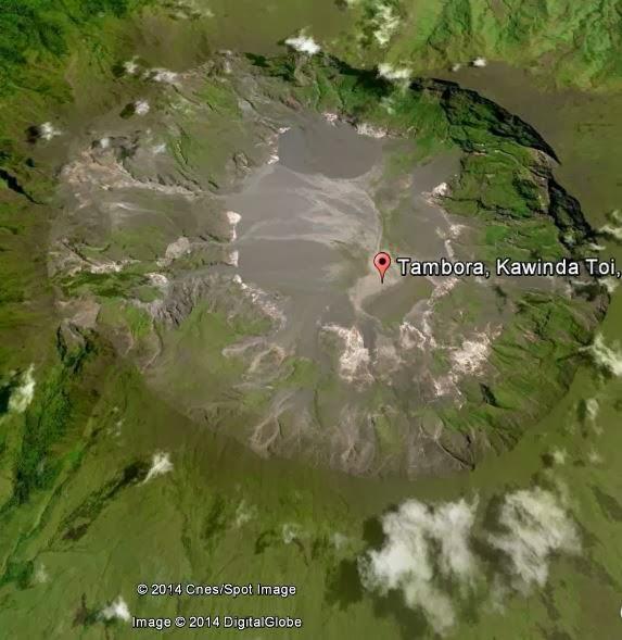 Letusan Raksasa Gunung Tambora di Pulau Sumbawa