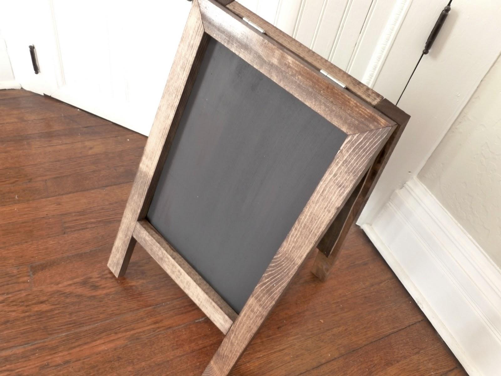 vintage home love: DIY Easel Chalkboard