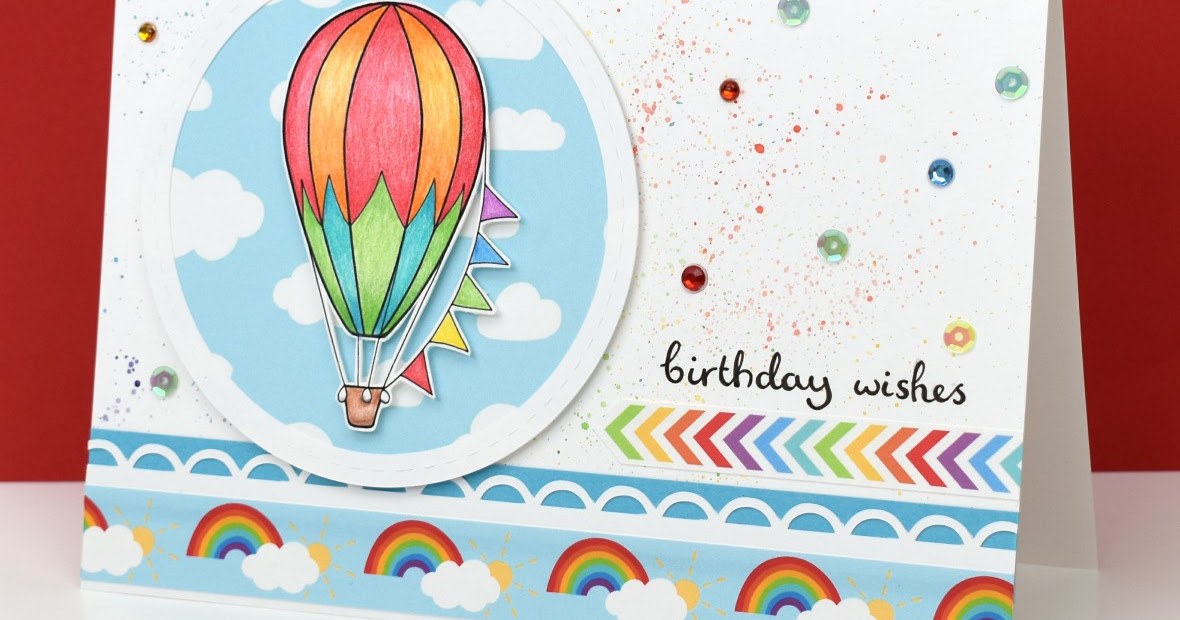Hazel Fisher Creations Hot Air Balloons Birthday Card
