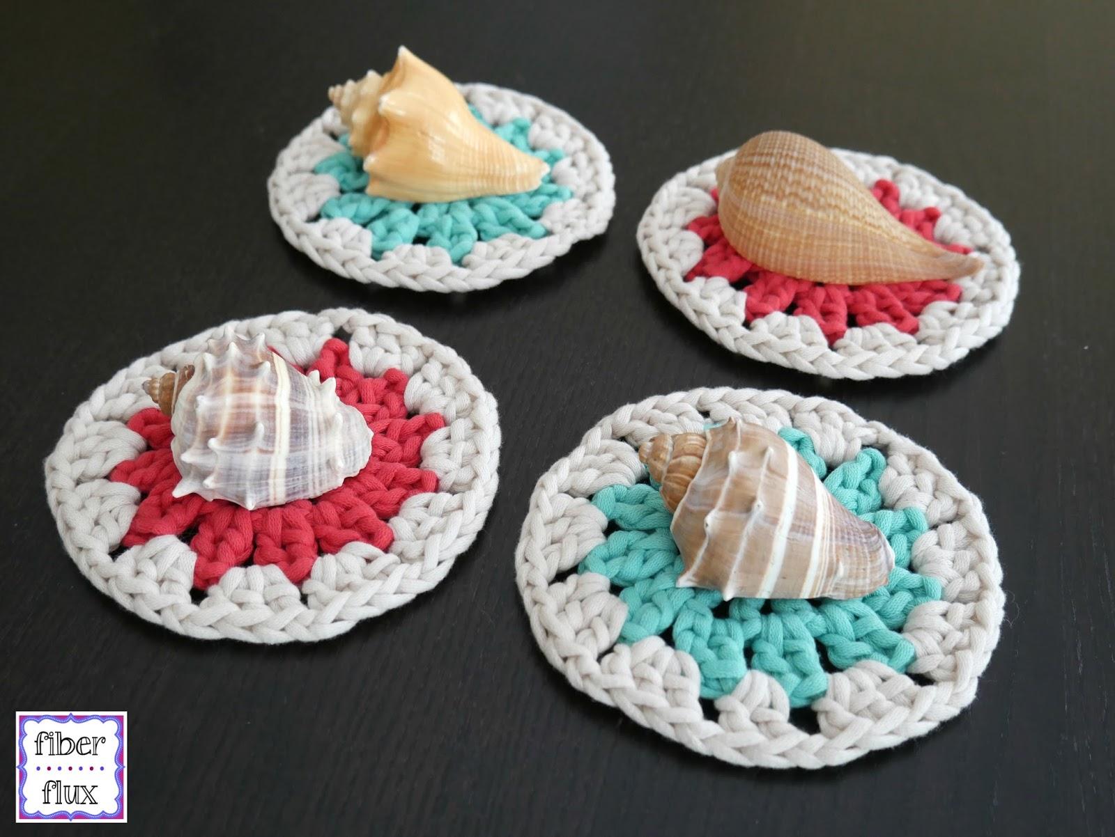 Fiber Flux Free Crochet Patternastal Coasters