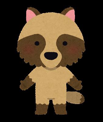 タヌキのキャラクター