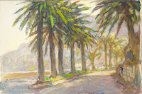Landscape with Palm Trees, Cannes, France, Nicolas Becker