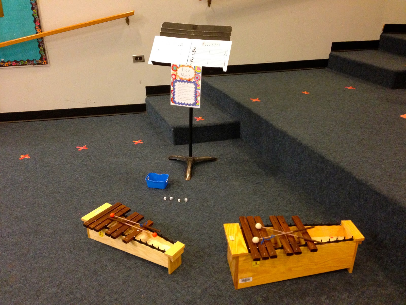 Elementary Music Resources Centers Dice Music