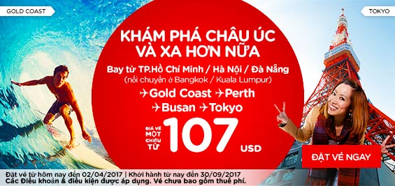 Quẩy tung hè này cùng khuyến mãi Air Asia chỉ từ 14 USD