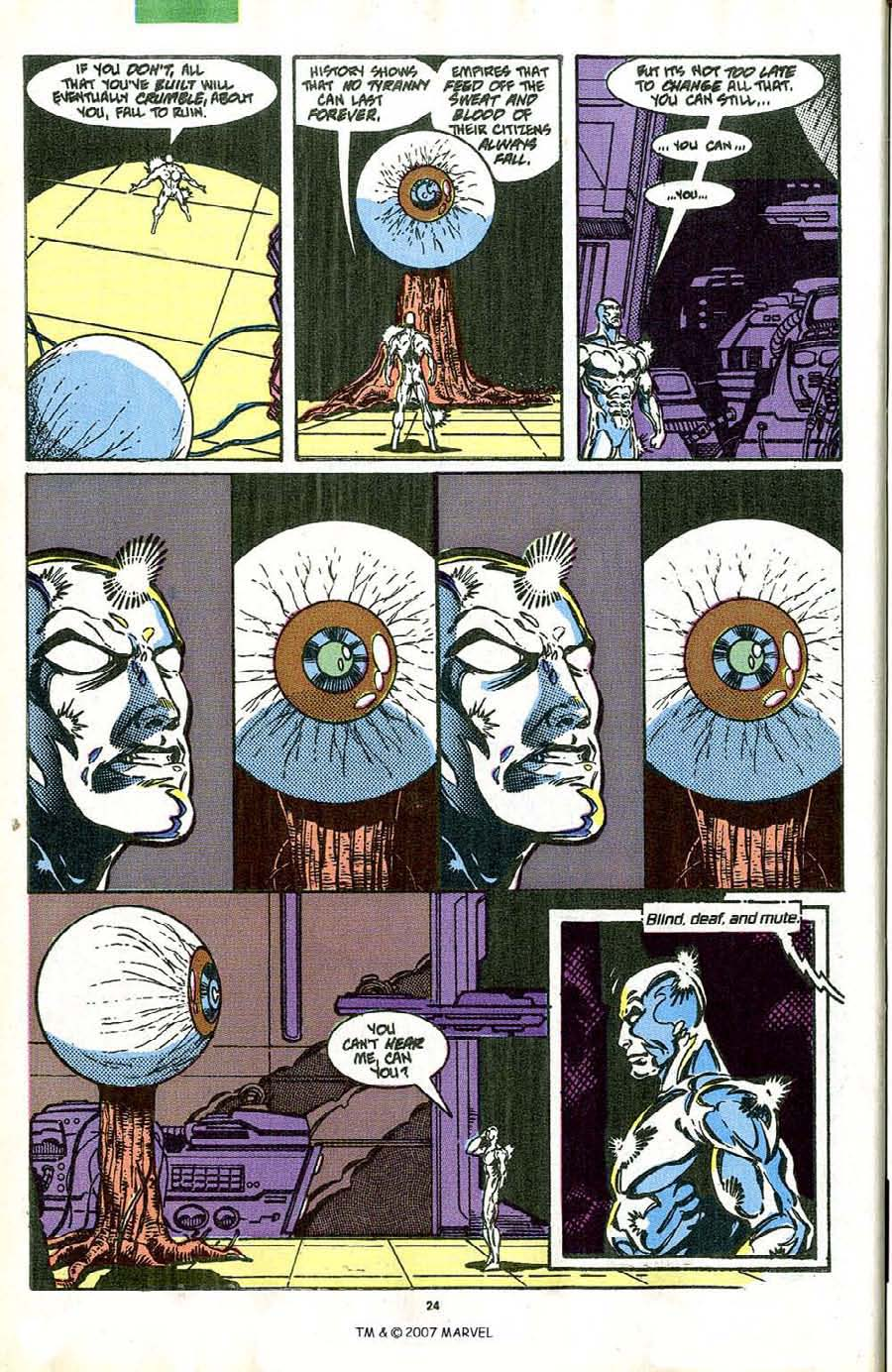 Read online Silver Surfer (1987) comic -  Issue #42 - 26