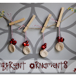 Sugar Bee Crafts: sewing, recipes, crafts, photo tips, and more!: Thumbprint Ornaments