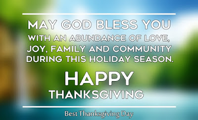 Simple Happy Thanksgiving Day Blessings for Family Friends