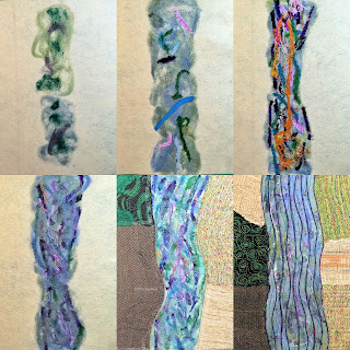 felting flip book pages