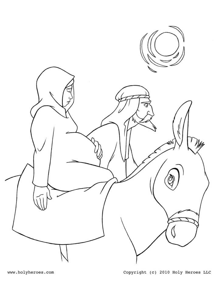 San José y la Virgen María camino a Belén