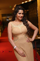 Actress Himaja Stills in Golden Spicy Long Dress at SIIMA Short Film Awards 2017 .COM 0254.JPG