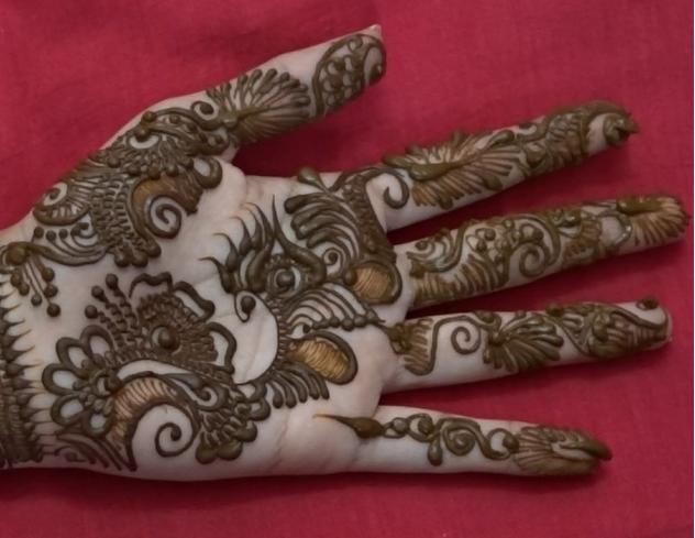 Indo arabic Mehndi Design - Naush Artistica