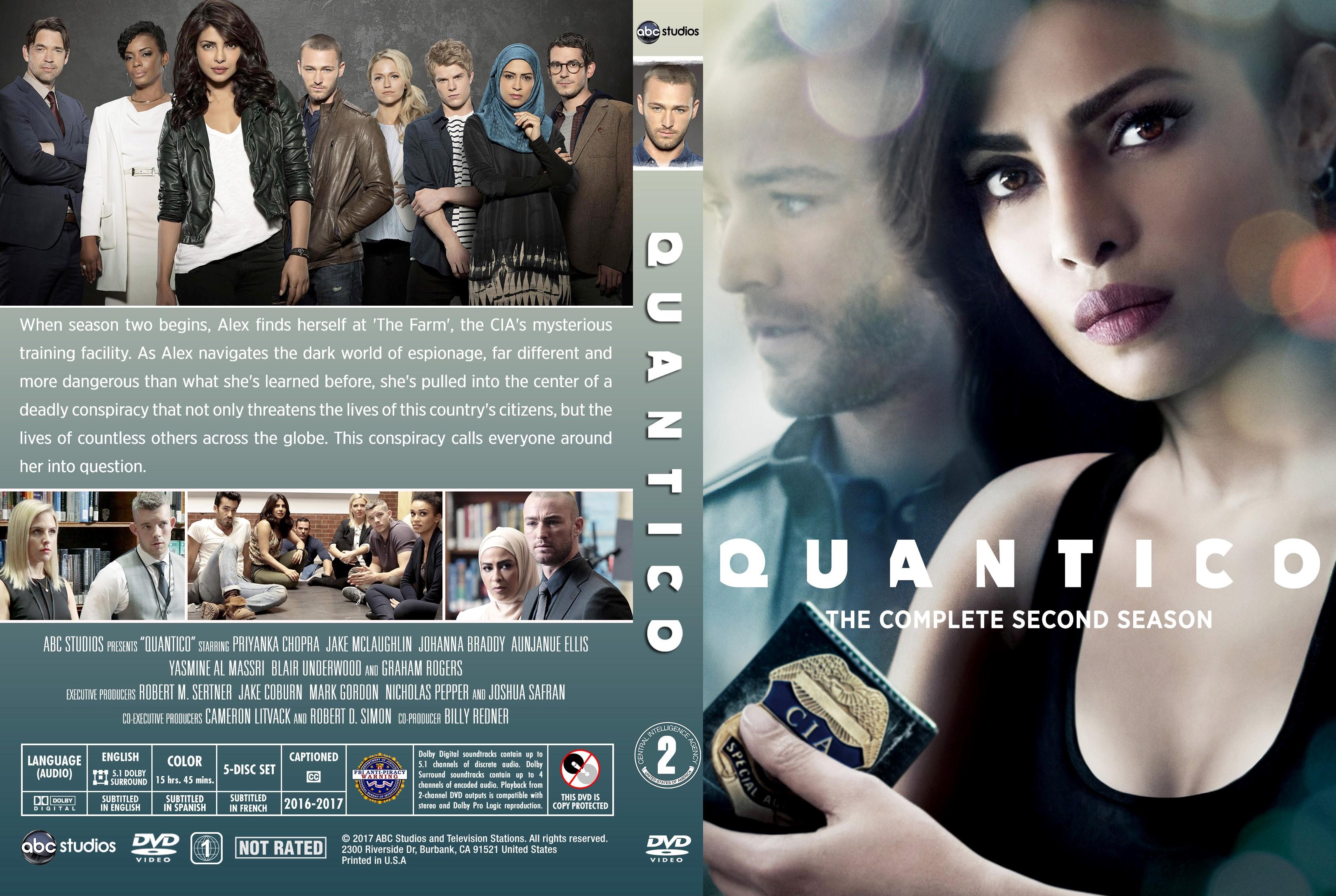 quantico season 2 dvd cover cover addict dvd and. Black Bedroom Furniture Sets. Home Design Ideas