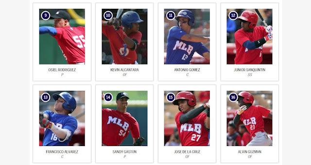 La MLB ha hecho pública la relación con los mejores peloteros que están tocando las puertas de las Grandes Ligas.