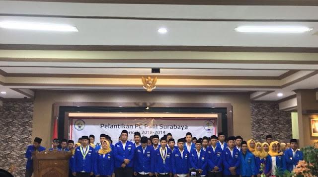 Zainuddin Resmi Lantik Pengurus Cabang PMII Surabaya