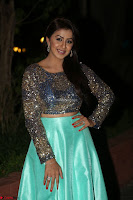 Nikki Galrani in Green Skirt  Top at Marakathamani music launch ~  Exclusive (12).JPG