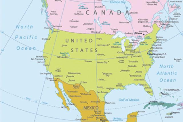Nama Negara di Benua Amerika Utara dan Ibukotanya