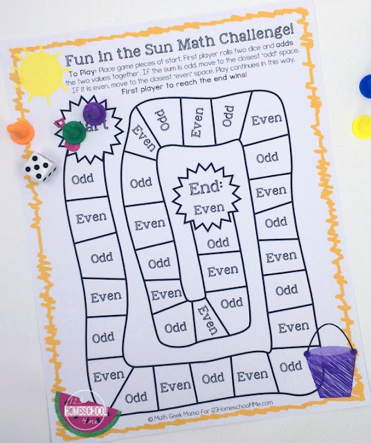 free printable summer learning cool math games to practice addition, subtraction, multiplication or division