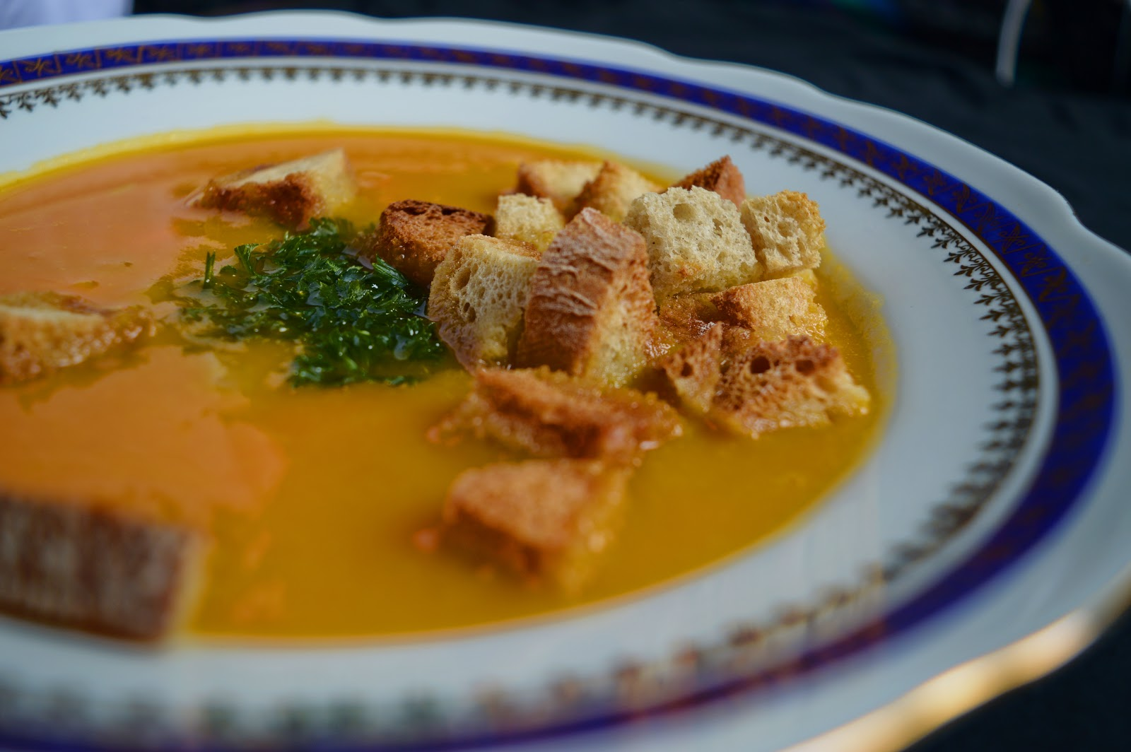 zupa z dyni, zup z grzankami, zupa z imbirem, dynia, imbir, zupa z dynią