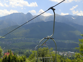 Vistas a los Tatra desde el telesilla de Butorowy Wierch, Zakopane