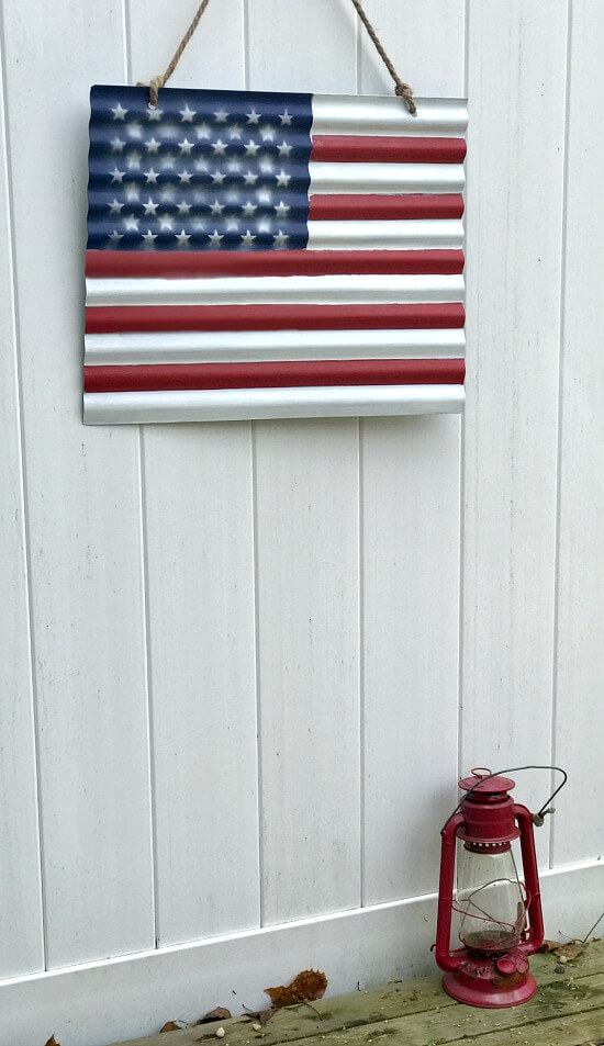 Corrugated American Flag