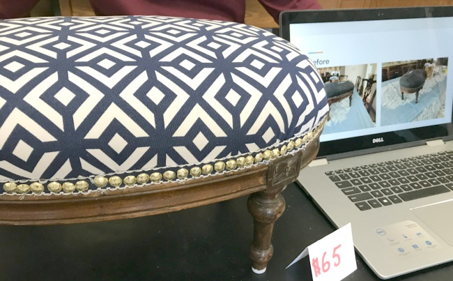 High School Student's Repurposed Projects foot stool