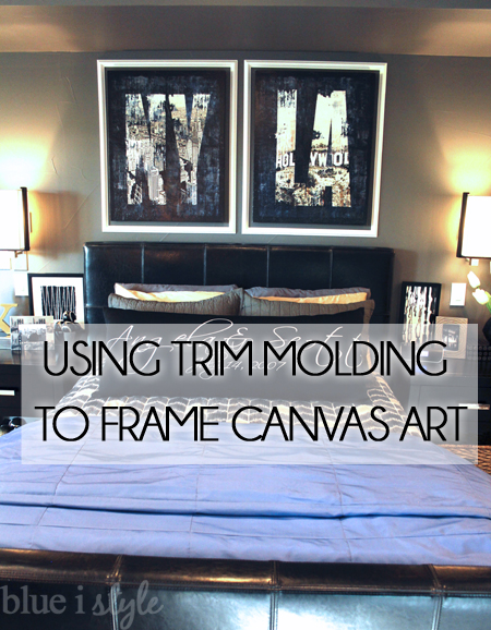 Frame Canvas Art with Trim Molding