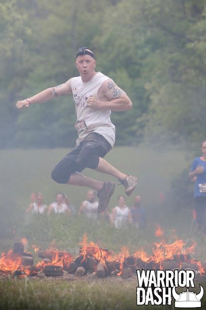 Warrior Dash Epic Fire Jump photo