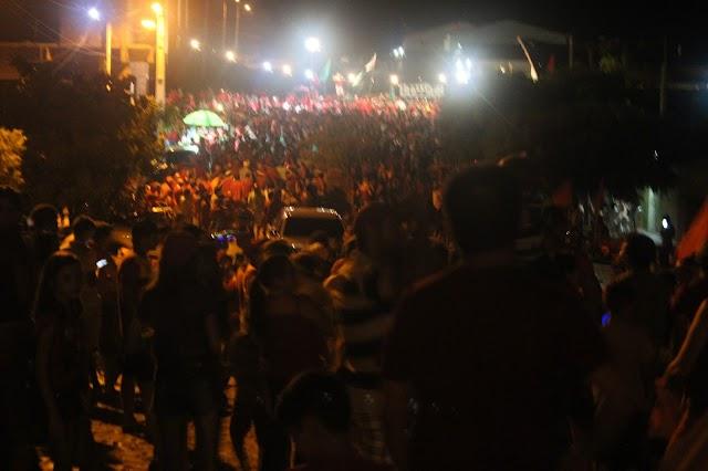 Festa do grupo de oposição de Macelino Vieira causa admiração na população