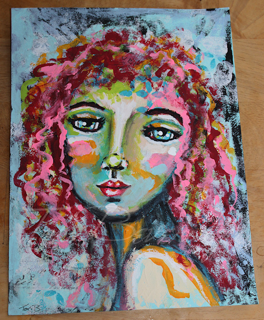 Face 1 Painting by Tori Beveridge 2016