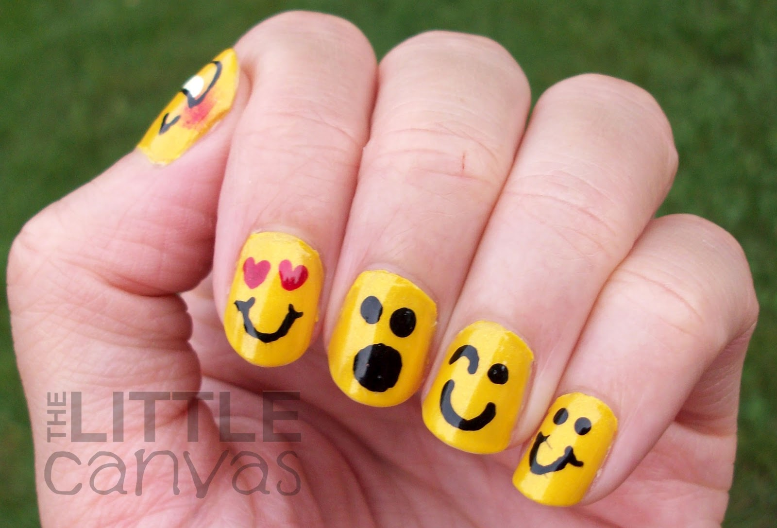 31 Day Challenge Day 3 Yellow Nails Emoticons The Little Canvas