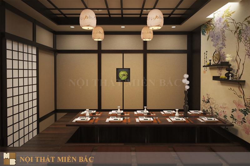 Thiết kế nhà hàng Nhật sang trọng
