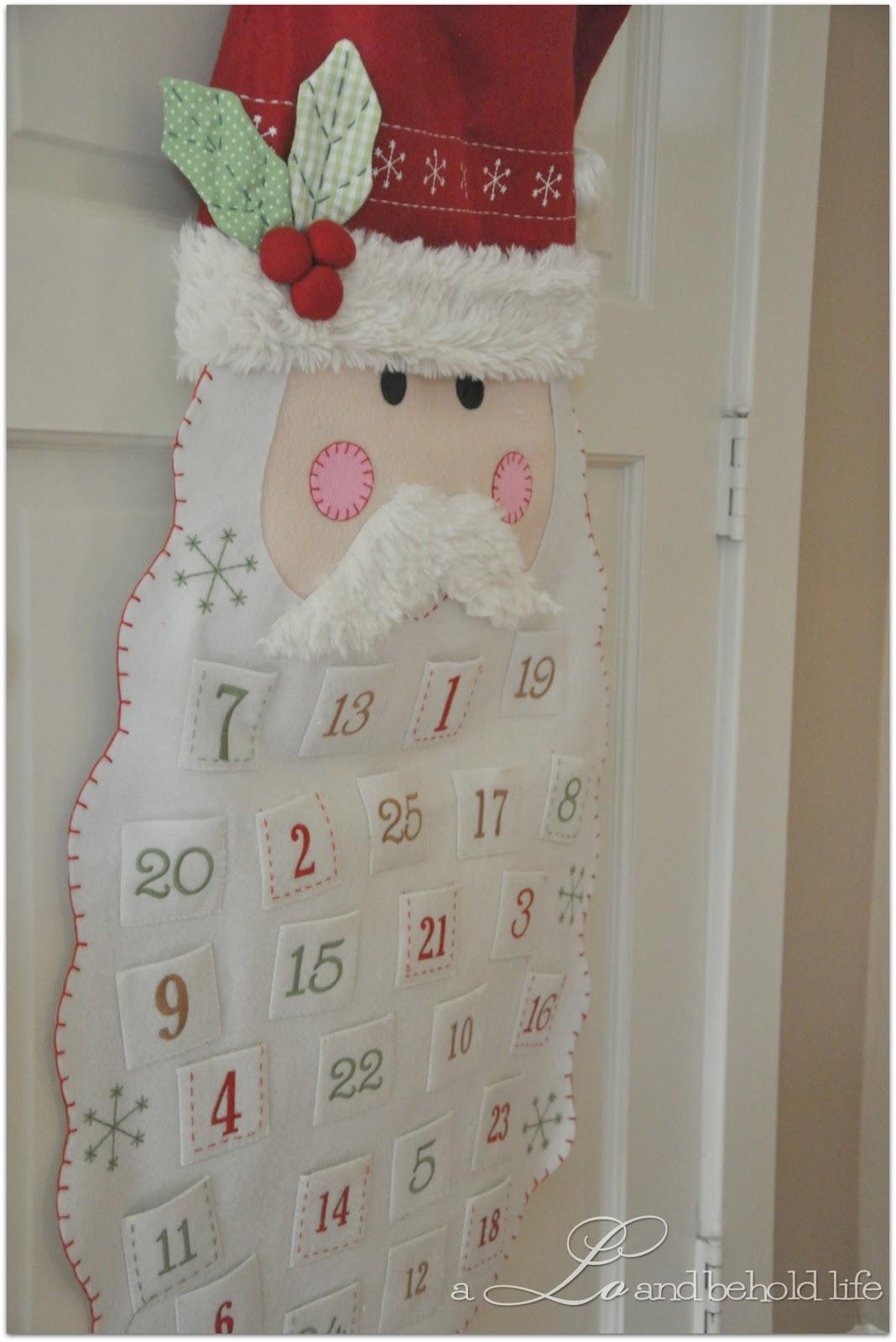 Santa Advent Calendar A Lo And Behold Life