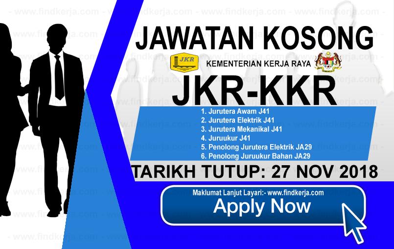 Jawatan Kerja Kosong KKR - Kementerian Kerja Raya logo www.ohjob.info www.findkerja.com november 2018