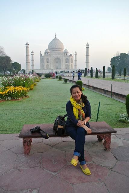 Aileen Siroy in Taj Mahal