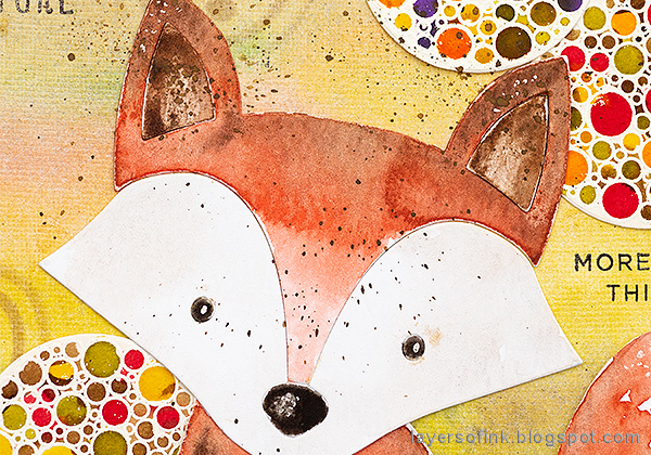 Layers of ink - Fox Watercolor Journal Tutorial by Anna-Karin Evaldsson with SSS STAMPtember Big Picture Book Fox