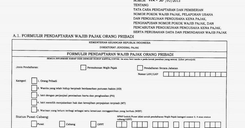 Npwp Dan Klasifikasi Wajib Pajak Catatan Ekstens