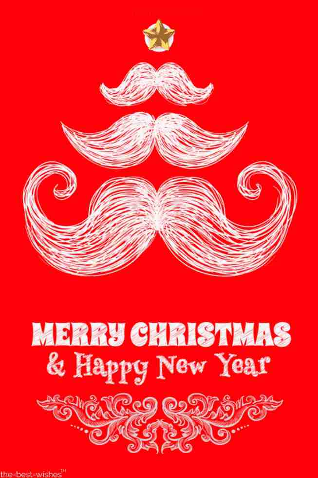 santa moustache xmas wishes