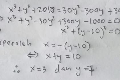 Soal No 6 OSK Matematika 2018
