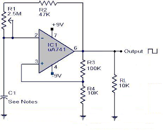 uA 741-Square Wave Generator